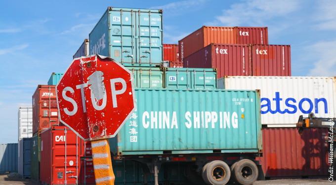 china exports stop sign