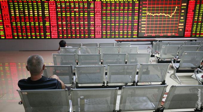 people sitting empty brokerage screen