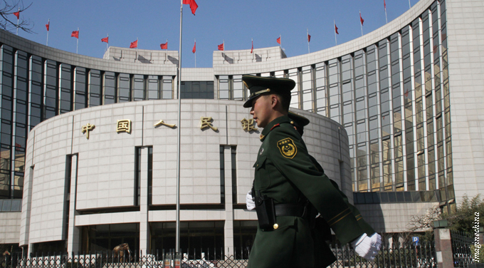 soldier walks past PBOC