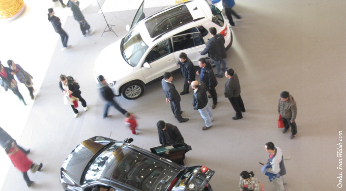 people around a car