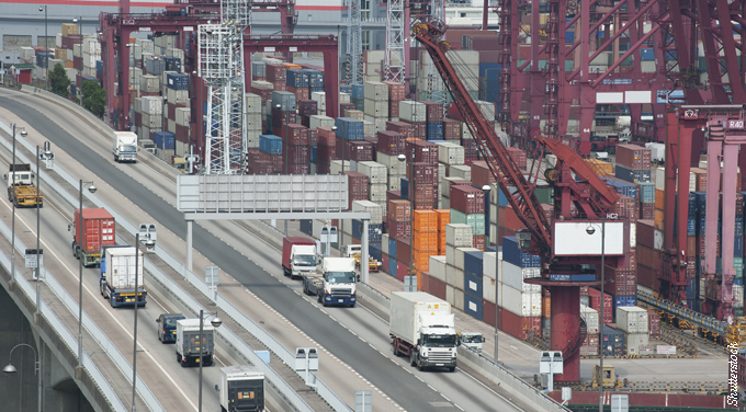 Why do official statistics show a record drop in highway shipping?