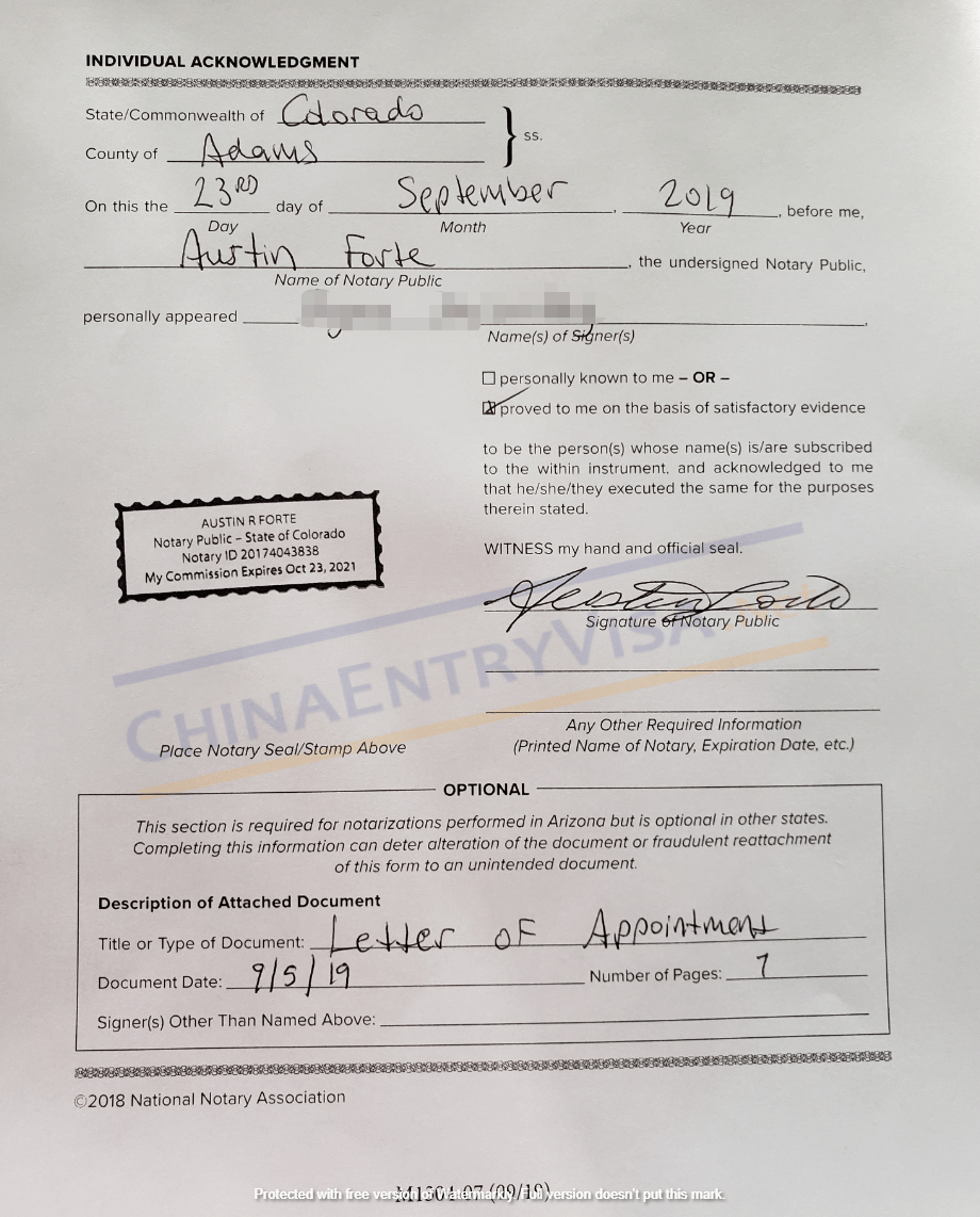 Document Notarization for Use in China Before Consulate