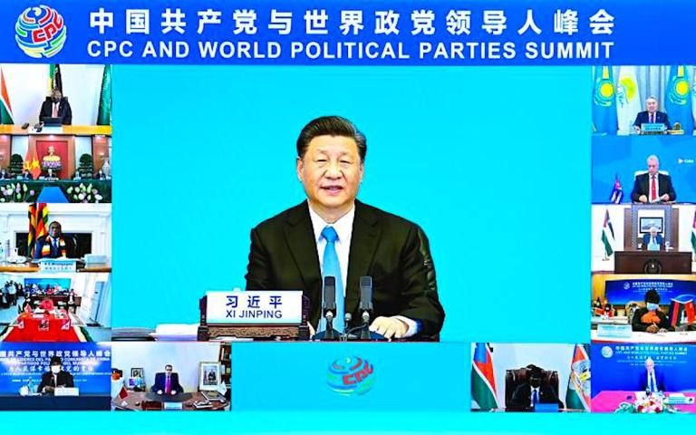 President Xi puts the boot into the US and its allies