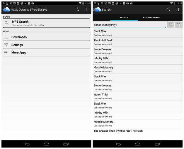 download music paradise pro for android