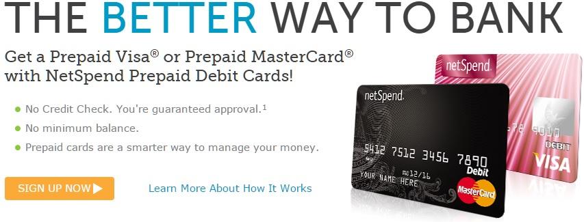 contas de poupança Netspend