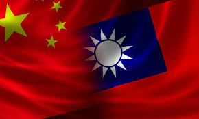 Chinese-flag-and-Taiwanese-flag