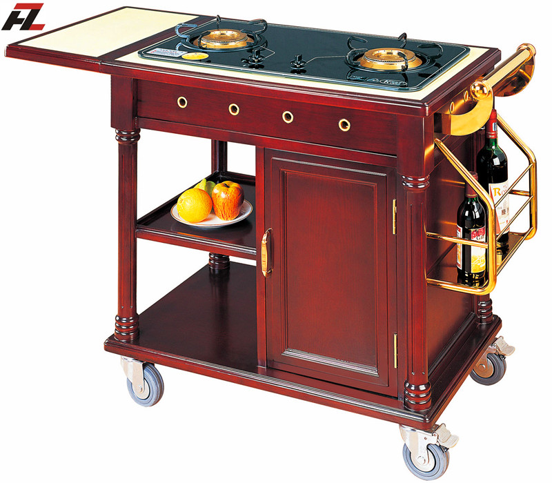 Kitchen Flambe Trolley  chinahotelsupplies