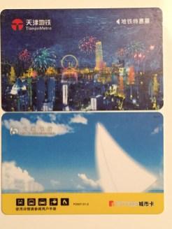 Oben Metro Card, unten City Card