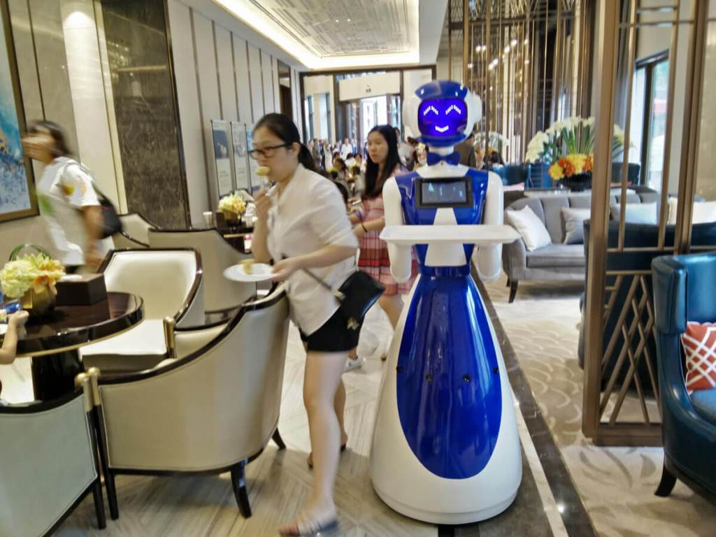 Humanoid Robot waiter for restaurant