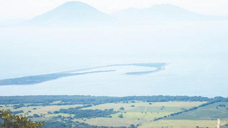 Vista desde la cima del Volcán Cosigüina