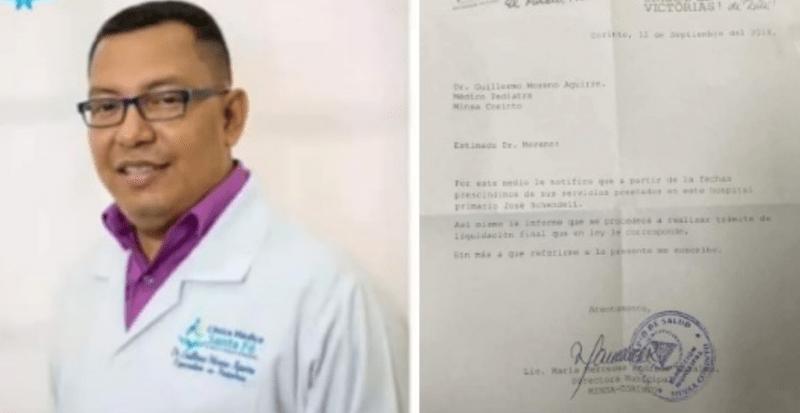 Médico despedido en Corinto
