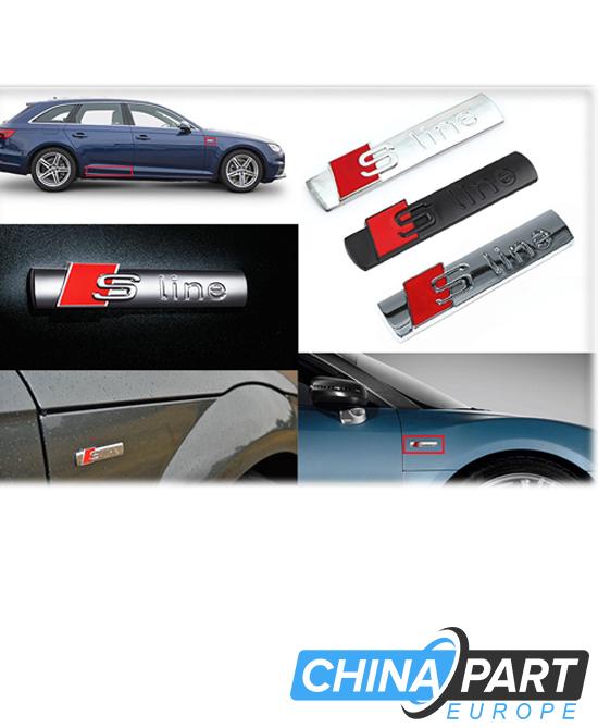 Audi S Line emblema ženkliukas chromas (blizgus)
