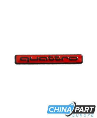 Audi Quattro ženkliukas emblema (Raudonas/Juodas)