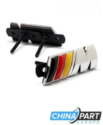M-Tech M Series Priekinių grotelių ženkliukas (German Flag, Silver)