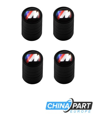 """M-Tech M Series Ventilių dangteliai (""""Round"""", Black)"""