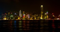 Hong Kong's famous skyline, viewed from Victoria Harbour in Tsim Sha Tsui