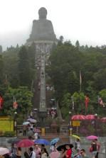 Steps leading up to the Big Buddha.