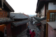 A backstreet in an ancient town in Yunnan province, China.