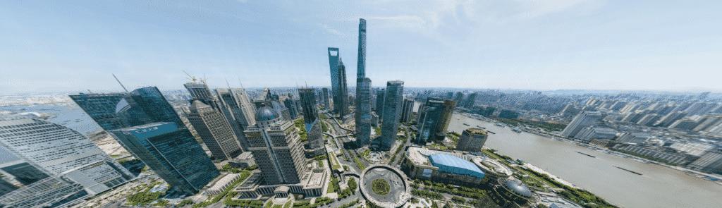 60 Seconds over Sinoland: quantum satellite camera used to do moveable. panoramic photo of Shanghai. – CHINA RISING