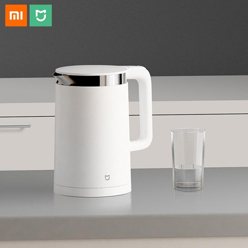 Xiao mi jia чайник для воды Электрический термостат mi Home управление приложением 1.5L ручной умный котел для воды чайник из нержавеющей стали