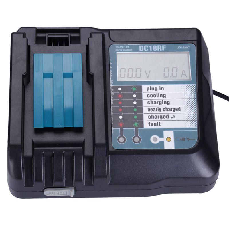 14,4 в 18 в литий-ионная батарея зарядное устройство Напряжение Ток ЖК-цифровой дисплей для Makita Dc18Rf Bl1830 Bl1815 Bl1430 Dc14Sa Dc18Sc Dc18Rc