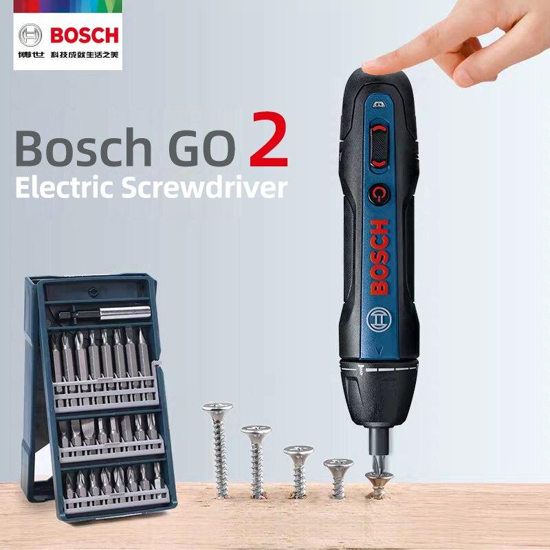 Bosch Go2 электрическая отвертка перезаряжаемая Автоматическая отвертка ручная дрель Bosch Go 2 Многофункциональный Электрический пакетный инстр...