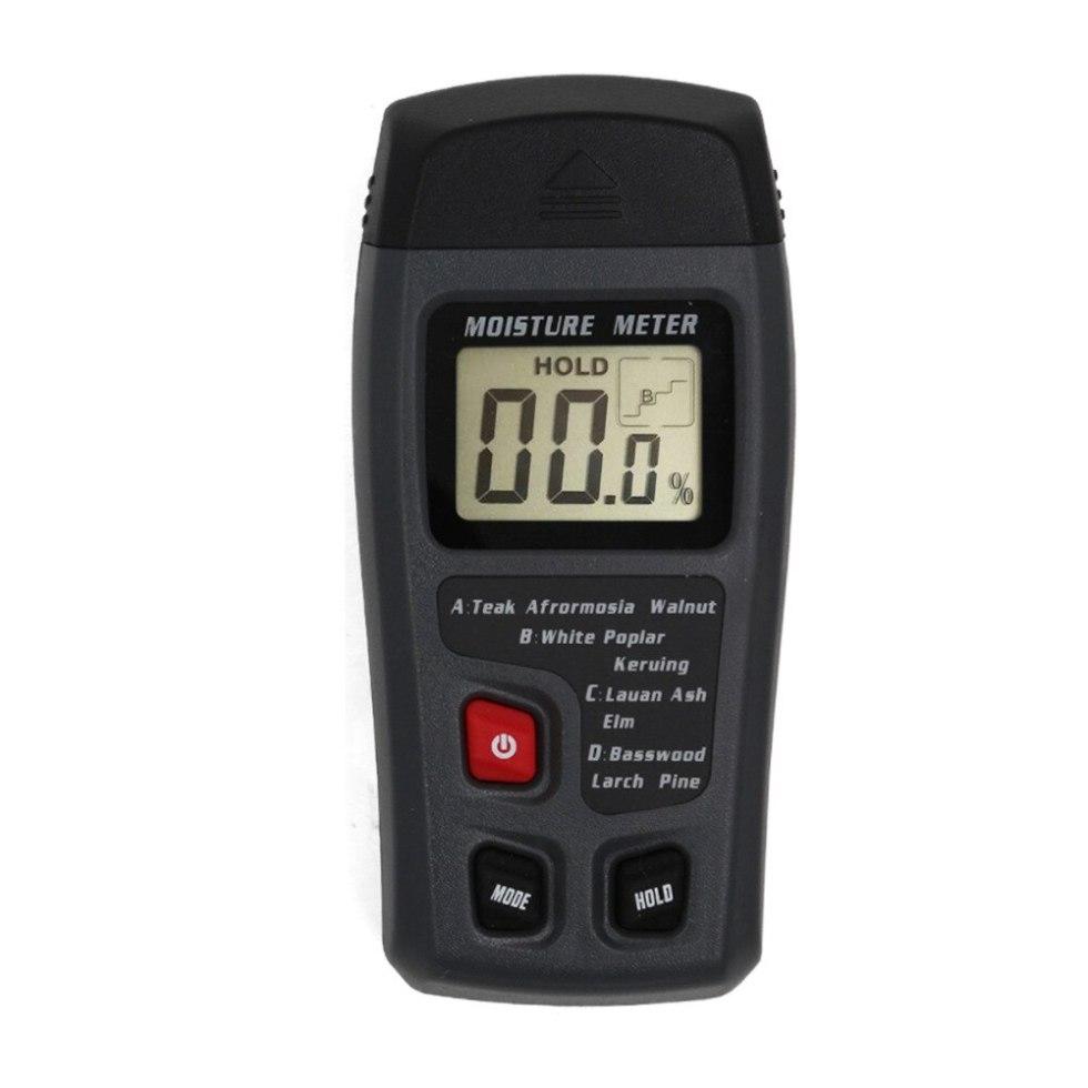 Цифровой ЖК-дисплей, измеритель влажности древесины с двумя контактами 0-99.9%, измеритель влажности древесины, детектор влажности древесины ...