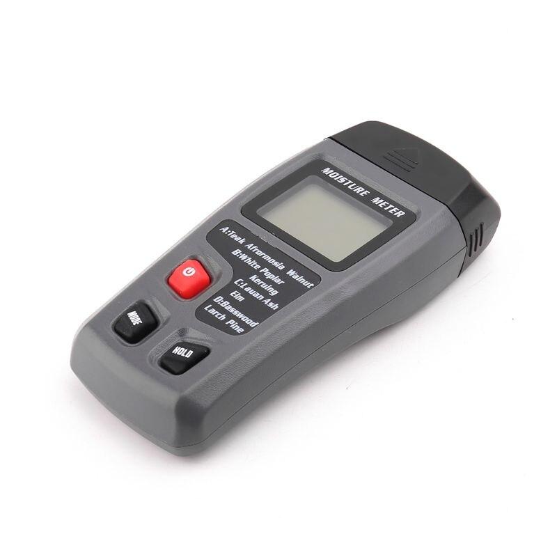 EMT01 два контакта цифровой измеритель влажности древесины 0-99.9% тестер влажности древесины с ЖК-дисплеем