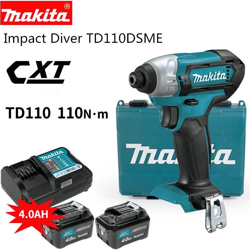 Makita CXT Аккумуляторный ударный дайвер TD110DSME Li-Ion BL1041B 12В 4.0AH быстрое зарядное устройство DC10SB 12В TD110D TD110DSME TD110DWYE