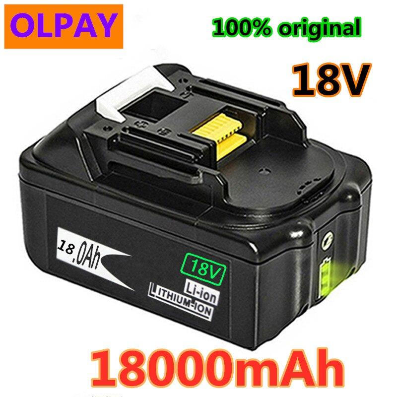 Оригинал для Makita 18V 18000mAh 18.0Ah перезаряжаемые электроинструменты батарея с светодиодный Литий-ионная Замена LXT BL1860B BL1860 BL1850