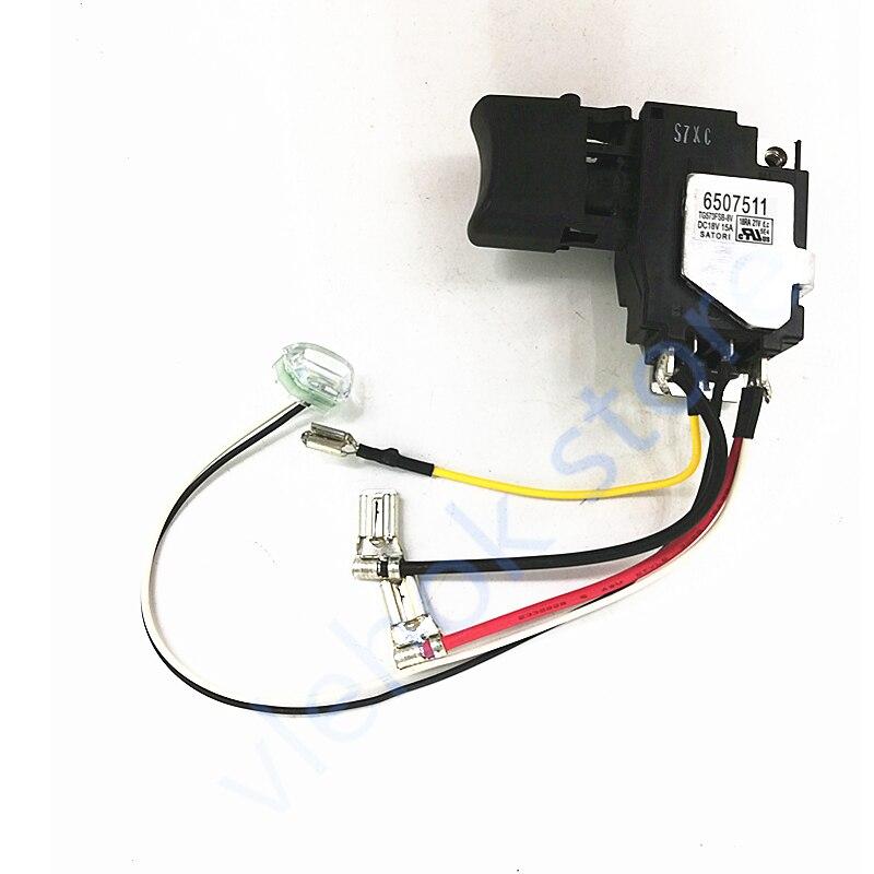 Переключатель 650751-1 для Makita 6507511 650751E1 TD152D DTD152 DTD152Z DTD152RME DTD152RFE аксессуары для электроинструментов