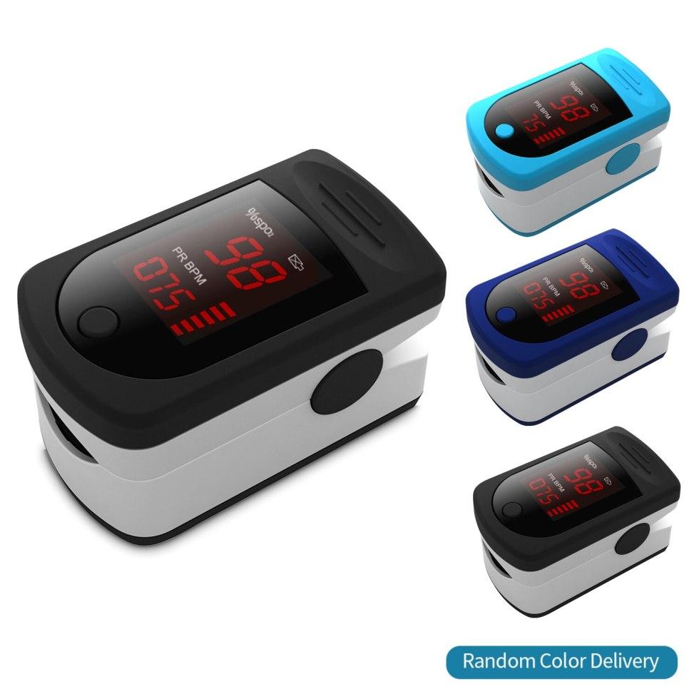Пульсоксиметр для измерения насыщения крови кислородом в пальцах, быстрая доставка в течение 24 часов (без аккумулятора)