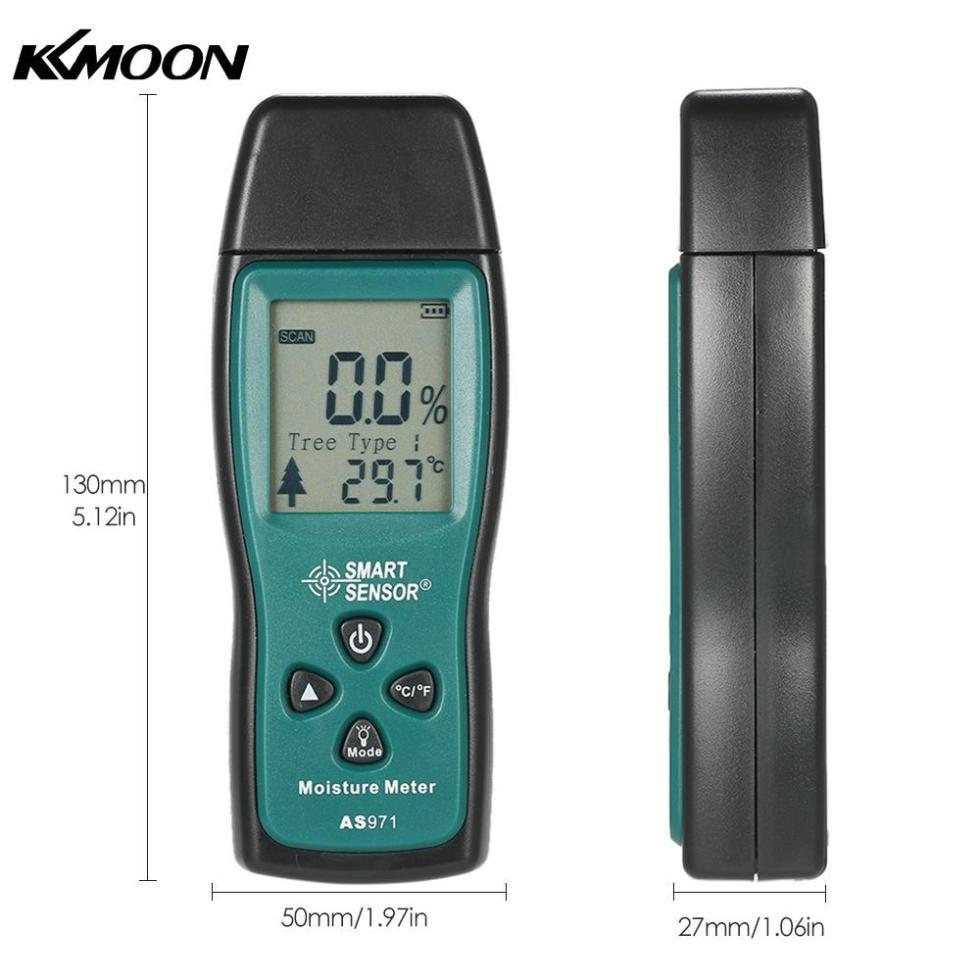 Ручной цифровой измеритель влажности древесины с двумя контактами, измеритель влажности древесины с ЖК-дисплеем, зонд 2% ~ 70%
