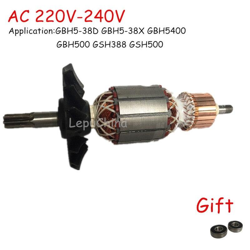 Хорошее качество AC220V-240V Замена роторного двигателя для BOSCH GSH388 GBH5-38D GBH5-38X GBH5400 GBH500 GSH500 7 зубьев
