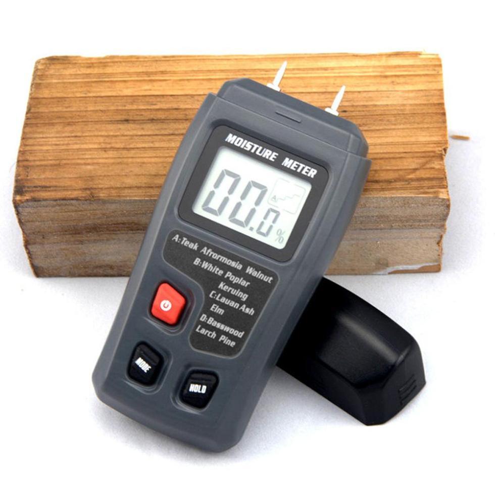 Yiwa два контакта цифровой Деревянный измеритель влажности с большим ЖК-дисплеем
