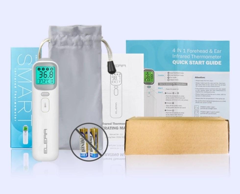Комплектация бесконтактного детского термометра Elera