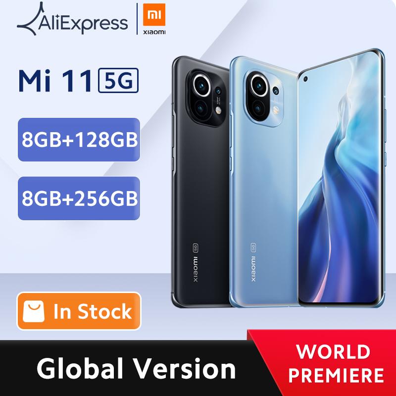 Глобальная версия смартфона Xiaomi Mi 11, 8 ГБ ОЗУ 128 Гб ПЗУ, Восьмиядерный процессор Snapdragon 888, быстрая зарядка 55 Вт, AMOLED экран 120 Гц|Смартфоны| | АлиЭкспресс