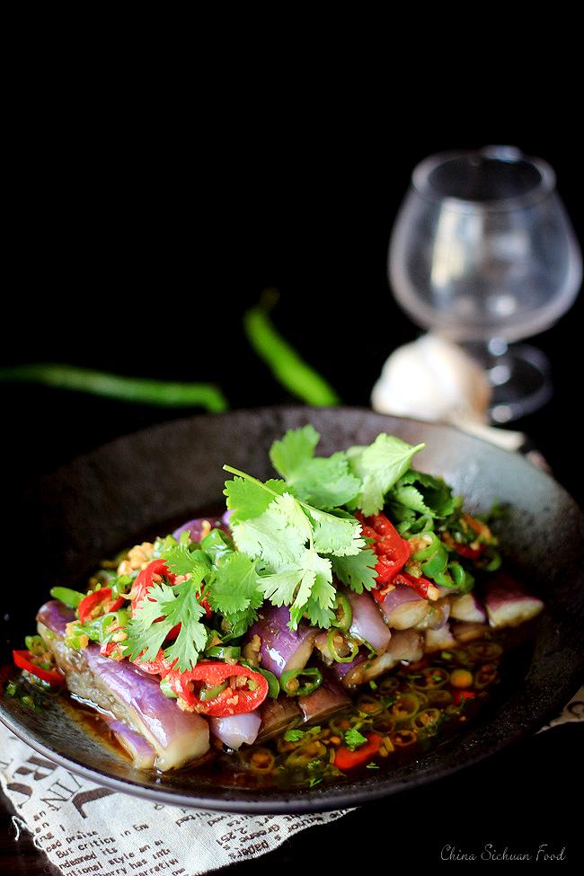 Chinese Eggplant Salad Recipe  China Sichuan Food