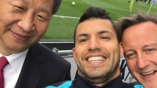 Xi Jinping, Sergio Aguero and David Cameron. Naturally.