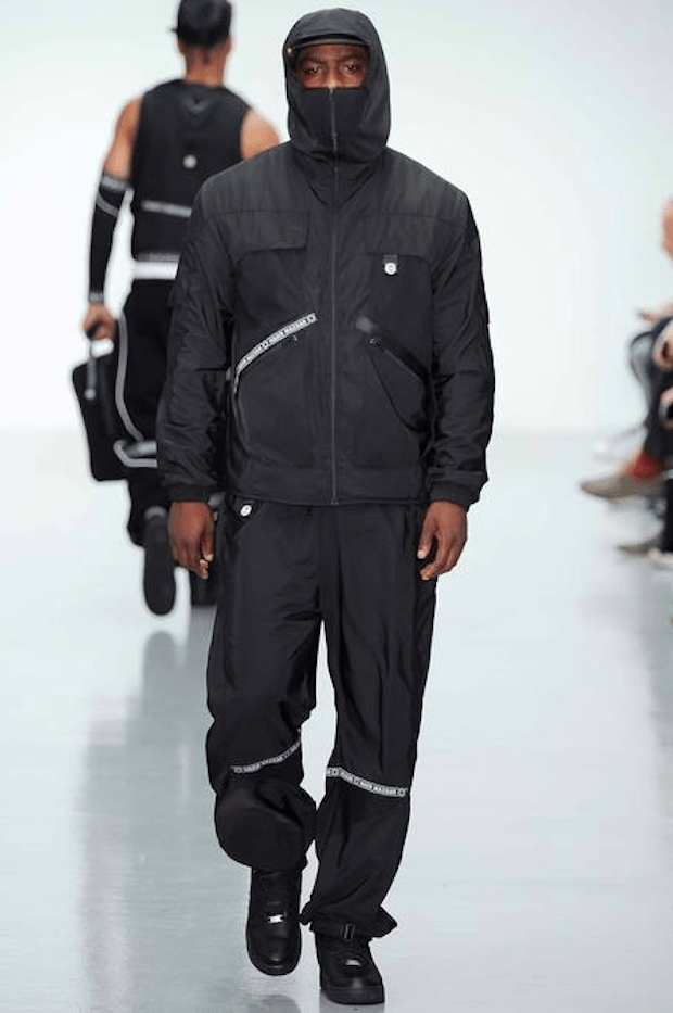 Grime artist Skepta on the catwalk