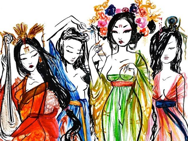 """Four Beauties."" Image: online"