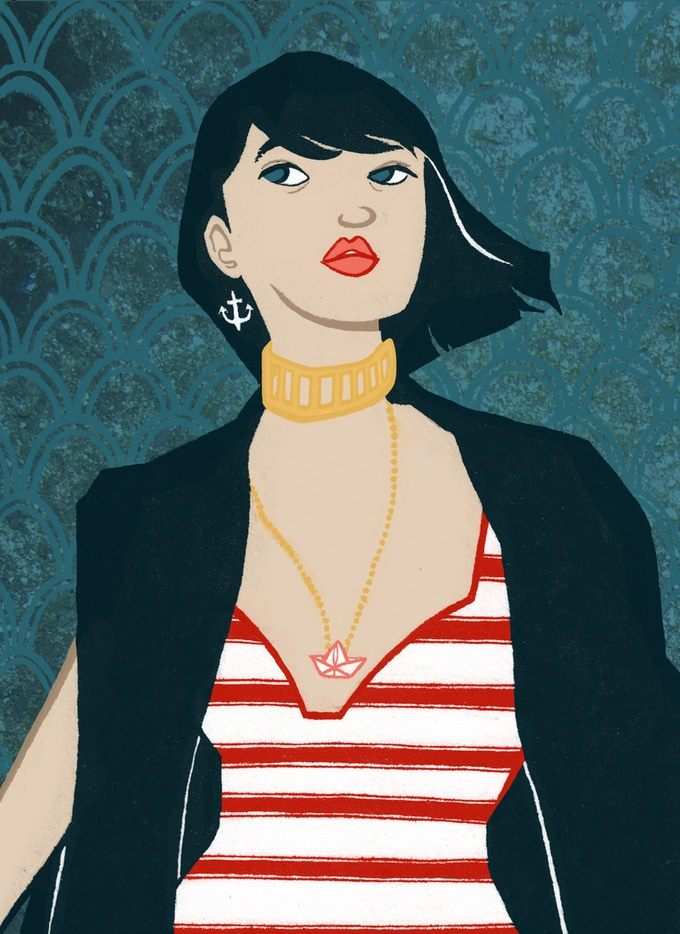 A compilation of street fashion illustrations from the subways of New York City. Created by Eileen McLain