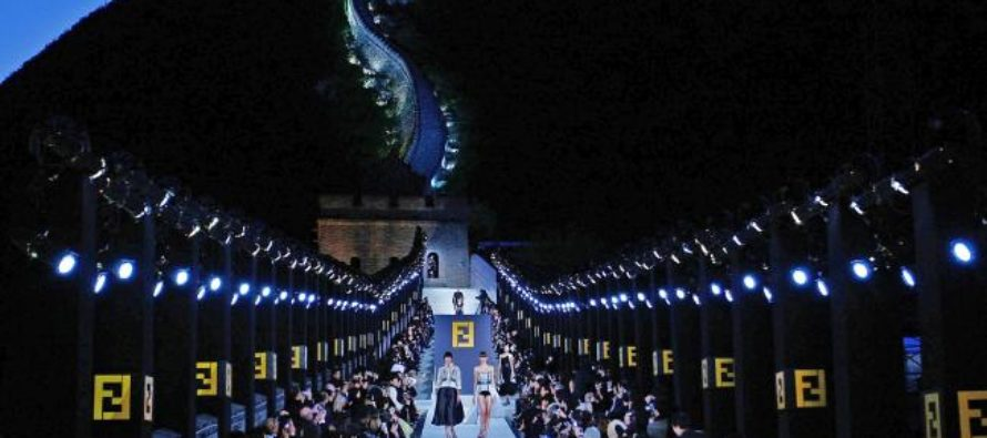 Fendi in China. The Great Wall, 2007. As envisioned and executed by Karl Lagerfeld.