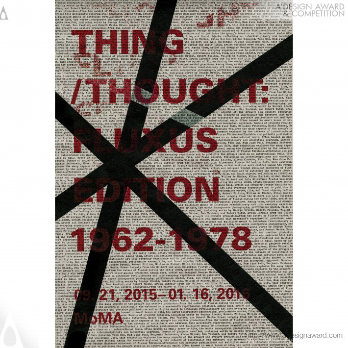 Fluxus Poster Design For MoMa Fluxus. A' Design Award Winner for Graphics and Visual Communication Design Category in 2018. Qingru Joy Wu