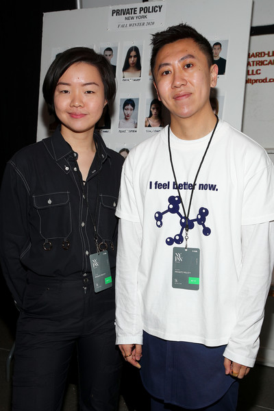 Siying Qu and Haoran Li, the designing duet behind Private Policy. Image via Zimbio
