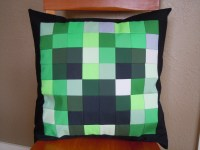 Minecraft Creeper Pillow  Chinchilla Whiskers
