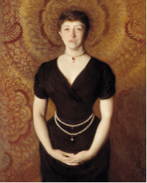 """Isabella Stewart Gardner in Venice"" painted by John Singer Sargent in 1888"