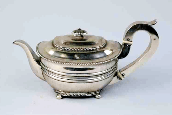 Chinese Export Silver WE WE WC teapot