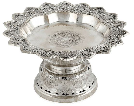 Chinese Export Silver tazza by Da Xing circa 1890