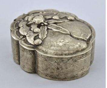 Chinese Export Silver Wu Hua Box
